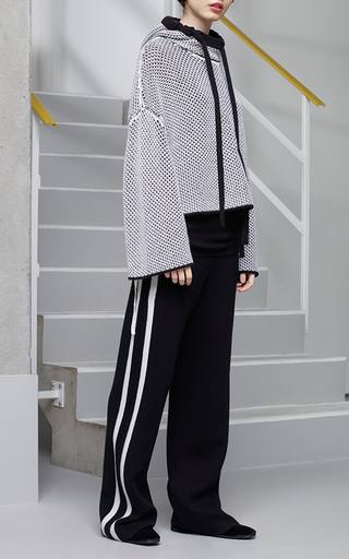 Medium zoe jordan black black hertz knit stripe trousers