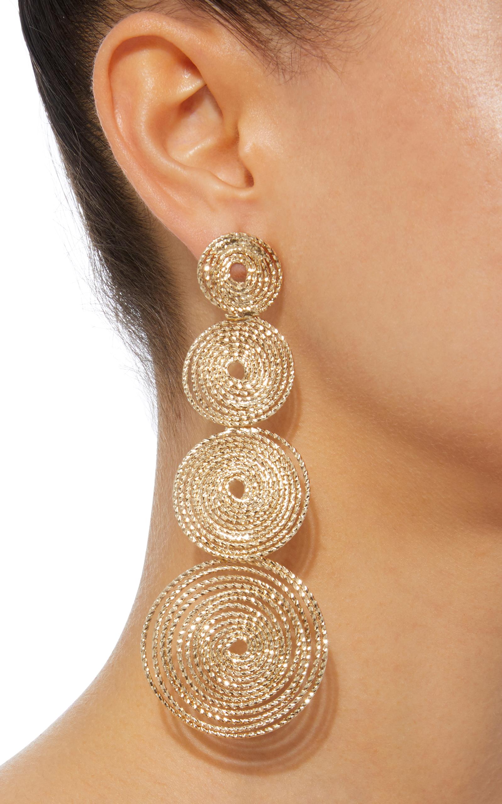 Soffio Gold Tone Earrings Close Loading