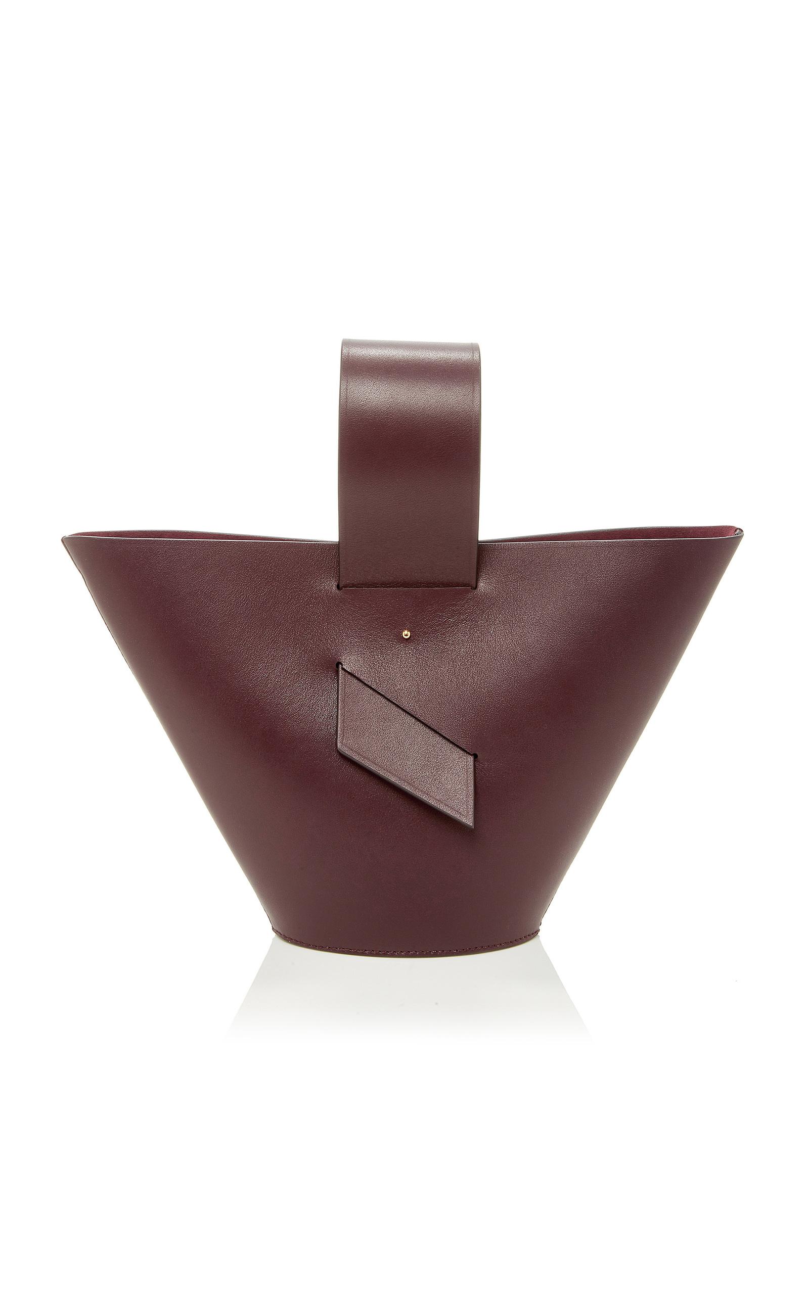 1884338870f9 Amphora Leather Top Handle Bag by Carolina Santo Domingo