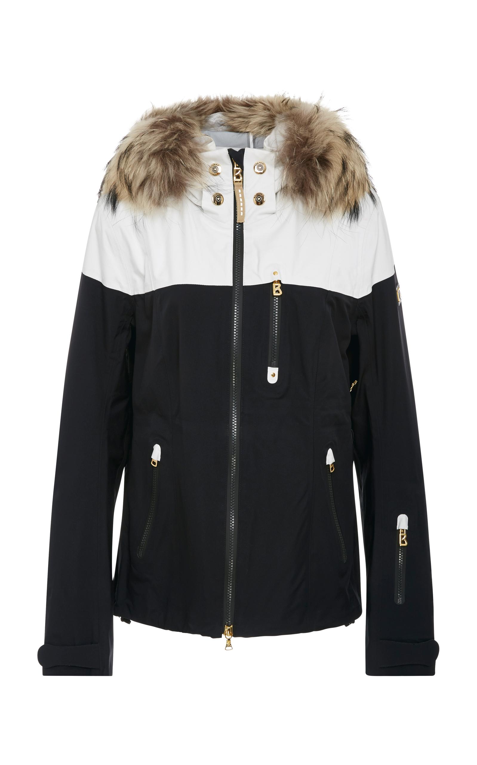 Nela Fur-Trimmed Shell Jacket by Bogner  5f4a801e3
