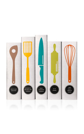 Medium juniper books white classic cookbooks utensils book set