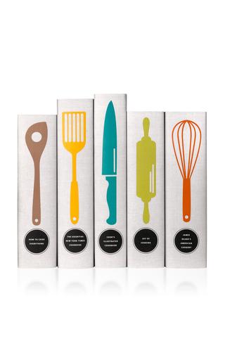 Medium juniper books white classic cookbooks utensils book set