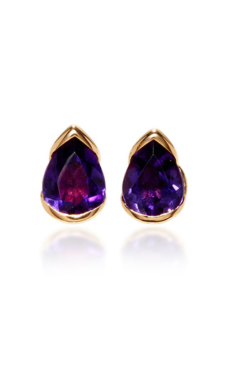 Medium fernando jorge purple bloom large amethyst studs