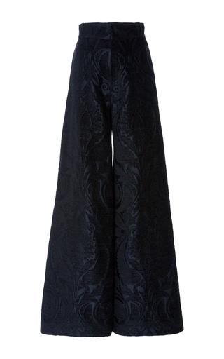 Medium jill stuart black nathalie wide leg jacquard pant