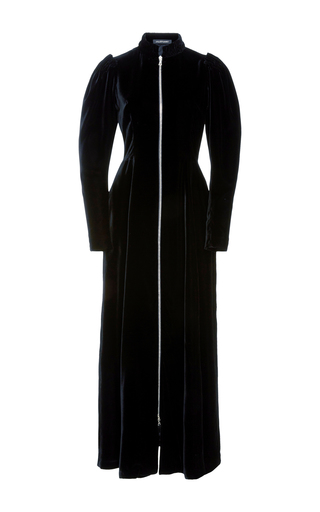 Medium jill stuart black iris velvet zip dress