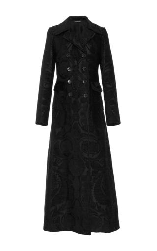 Medium jill stuart black petra jacquard coat