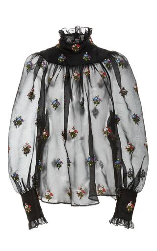 Medium jill stuart black viktoria embroidered blouse