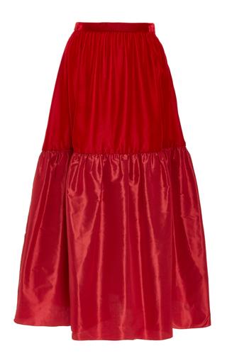 Medium jill stuart red sissi midi skirt