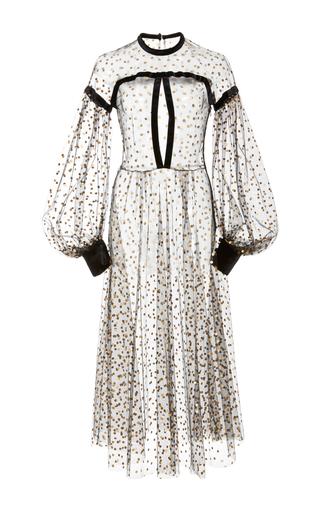 Medium jill stuart black pamela dot dress