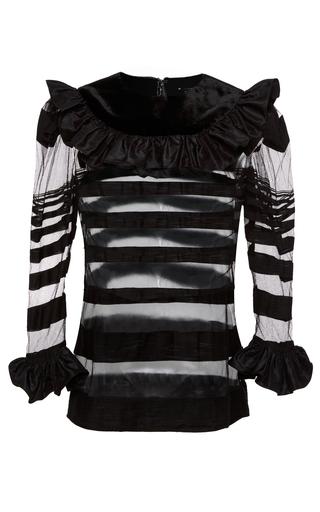 Medium jill stuart black samantha stripe tulle top