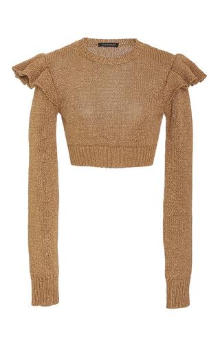 Medium jill stuart gold baylee knit crop top