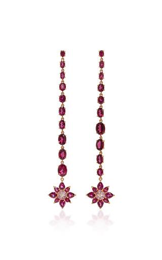 Medium bronia pink pink sapphire drop earrings