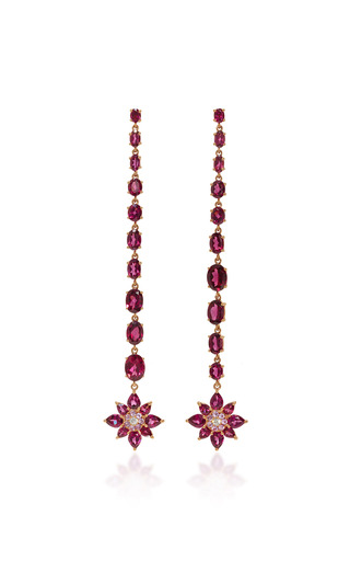 Medium bronia pink pink sapphire drop earrings