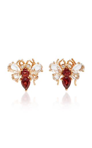 Medium bronia pink pink gold bee earrings