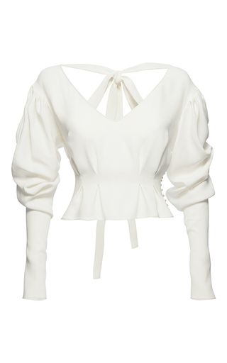 Medium magda butrym white lucena shirt