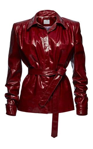 Medium magda butrym red fargo leather jacket