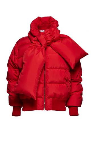 Medium magda butrym red starling jacket with scarf