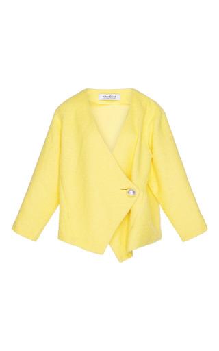 Medium kimhekim yellow pearl button cardigan