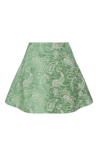 Medium kimhekim green jacquard mini skirt