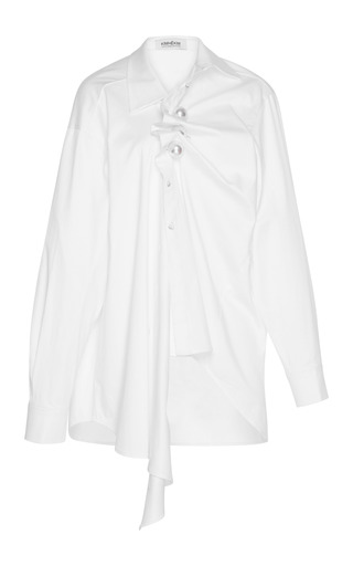 Medium kimhekim white gathered venus shirt