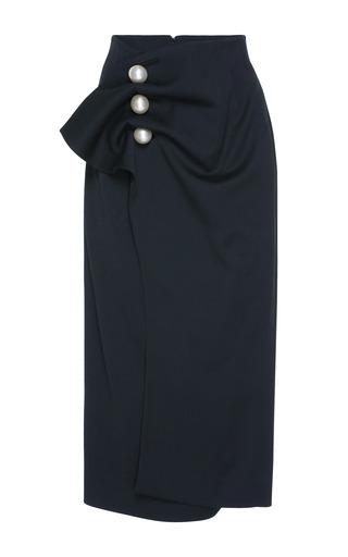 Medium kimhekim black venus pearl button skirt