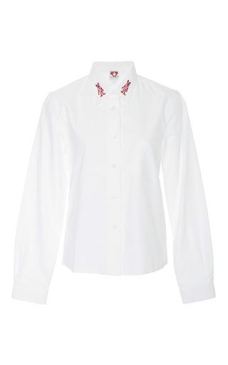 Medium shrimps white wonky embroidered shirt