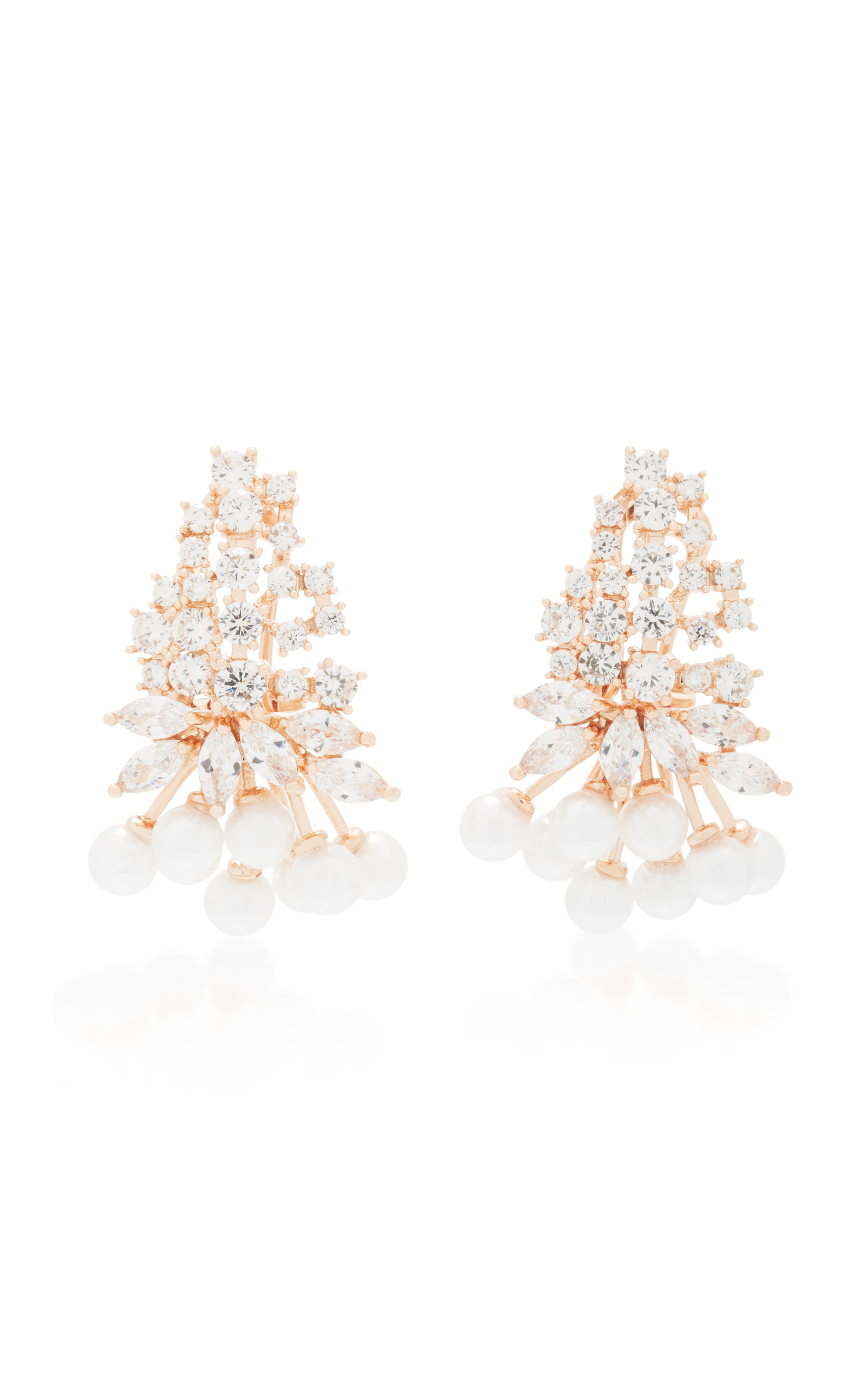 Fallon Monarch Mini Cluster Crystal Earrings lsQnA