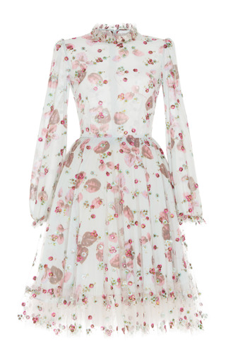Medium luisa beccaria floral floral printed georgette dress
