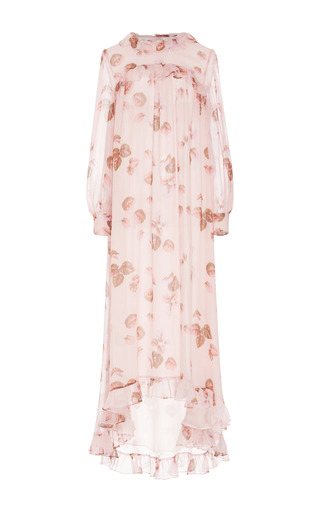 Medium luisa beccaria floral floral printed silk dress
