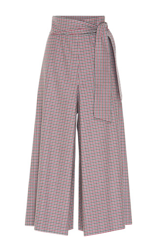 Medium luisa beccaria plaid high waisted pant skirt
