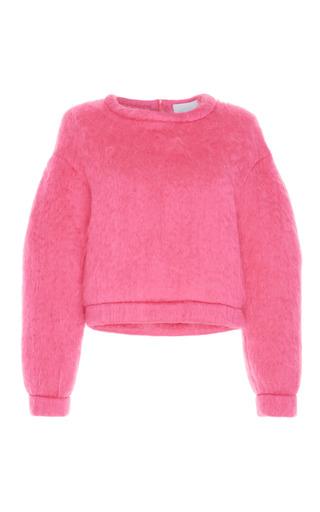 Medium luisa beccaria pink mohair long sleeve pullover