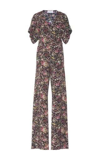 Medium luisa beccaria floral floral embroidered jumpsuit