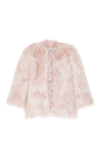 Medium luisa beccaria pink faux fur coat 2