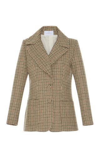 Medium luisa beccaria plaid tweed blazer jacket