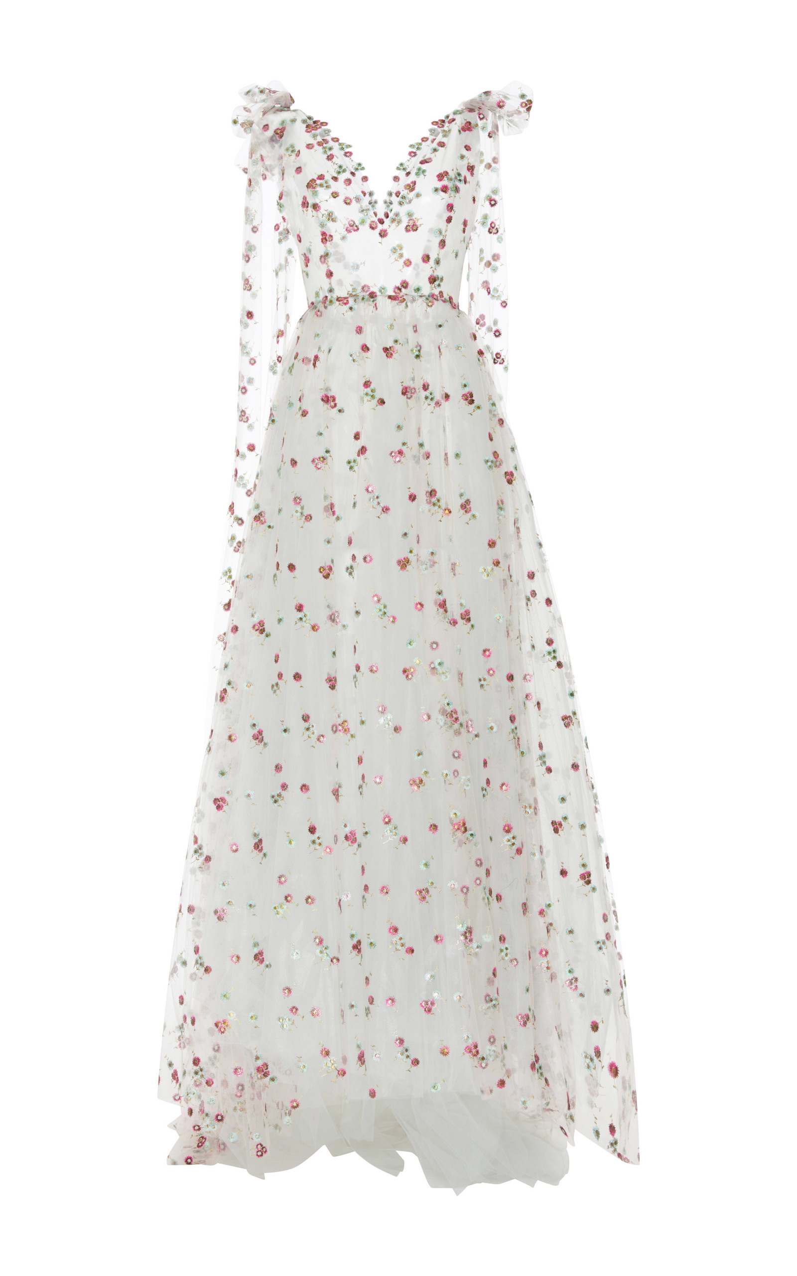 2c48101b1e Floral Embroidered Tulle Ball Gown by Luisa Beccaria   Moda Operandi