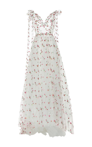 Medium luisa beccaria floral floral embroidered tulle ball gown