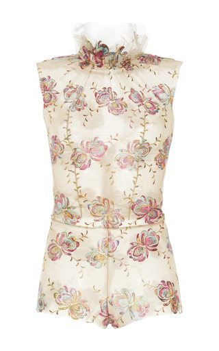 Medium luisa beccaria floral floral embroidered sleeveless bodysuit
