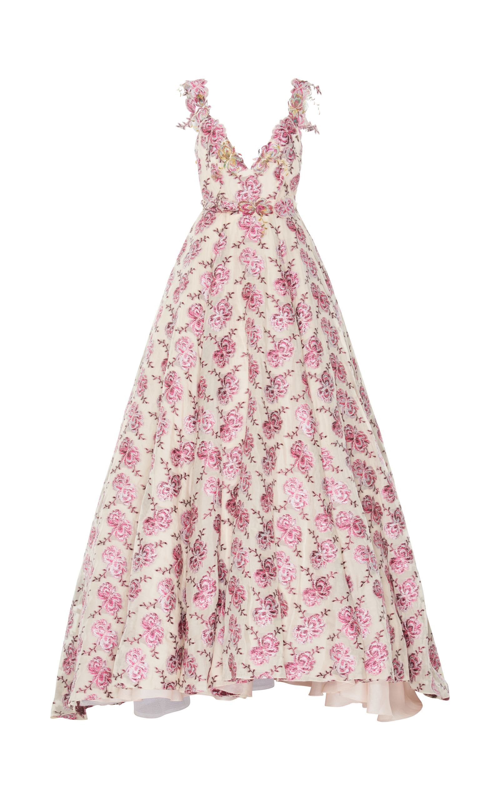 1073a299c8 Floral Embroidered Ball Gown by Luisa Beccaria   Moda Operandi