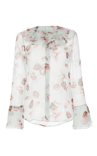 Medium luisa beccaria print printed georgette long sleeve shirt