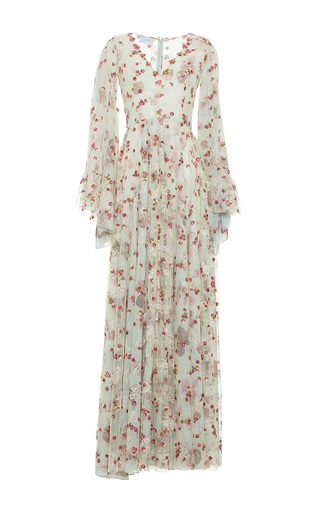 Medium luisa beccaria floral floral embroidered long dress 2