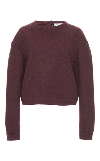 Medium luisa beccaria burgundy mohair sweatshirt 2