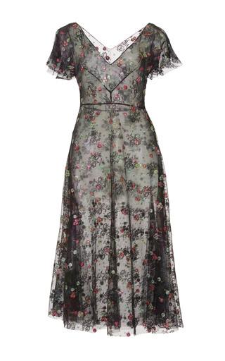Medium luisa beccaria floral short sleeve floral embroidered midi dress 2