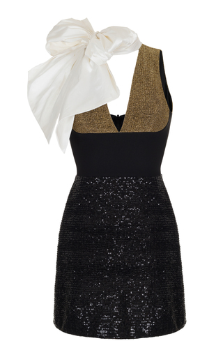 Medium rasario black sequin embroidered mini dress