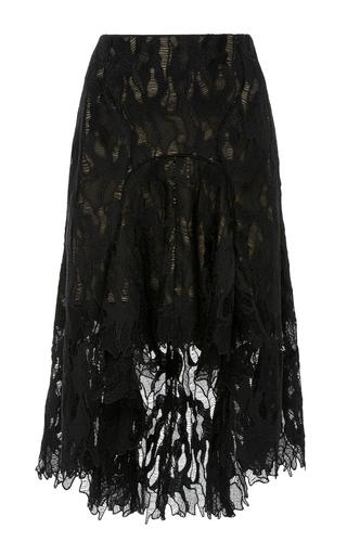 Medium acler black addison lace skirt