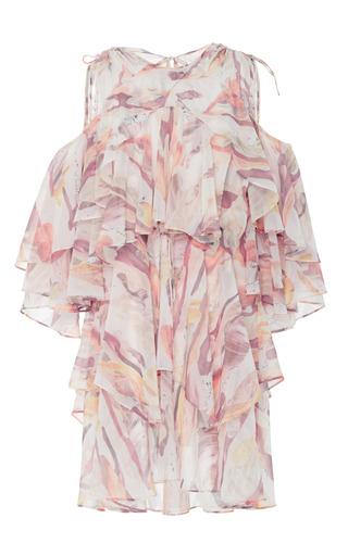 Medium acler pink quinn ruffle dress