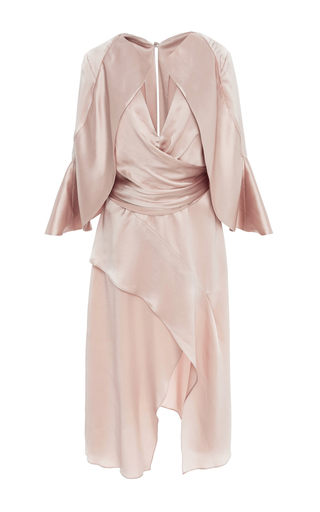 Medium acler neutral florence rose silk dress