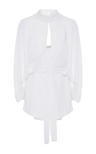 Medium acler white elston mock neck blouse