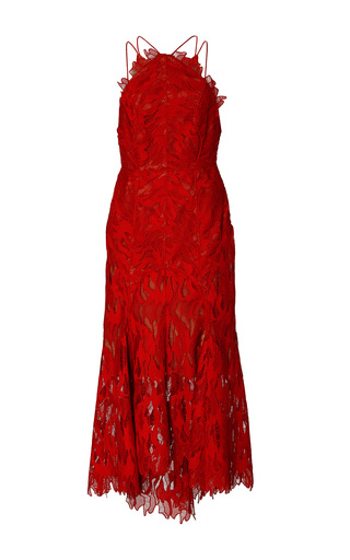 Medium acler red addison lace dress