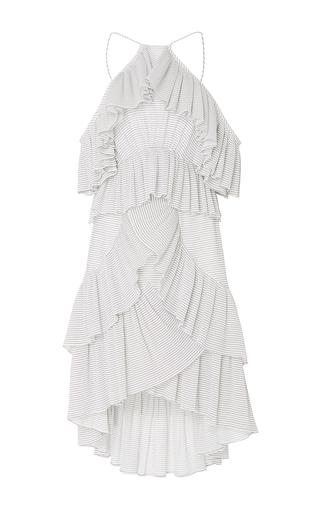 Medium acler stripe keppel pleat dress
