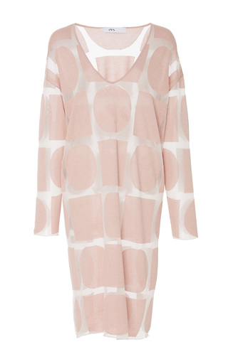 Medium ph5 pink jenna graphic sheer dress